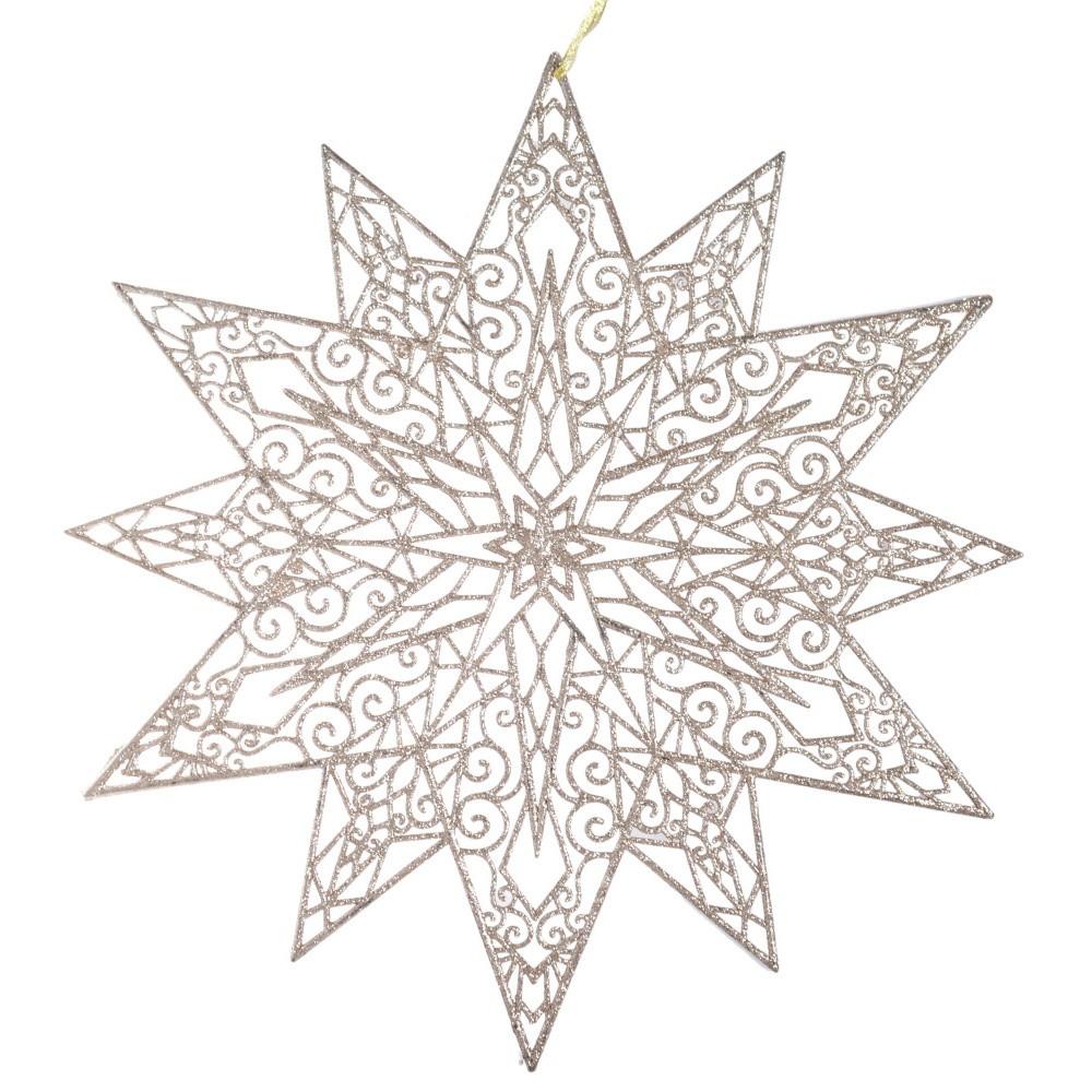Závesná dekorácia v béžovozlatom odtieni Ewax Adornada, ⌀ 45 cm