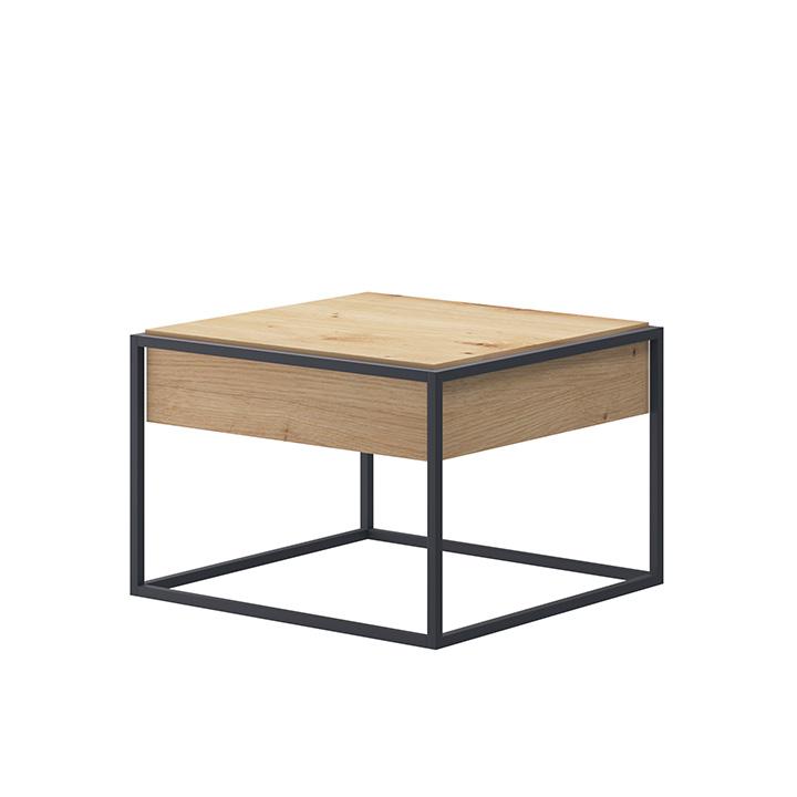 TEMPO KONDELA Konferenčný stolík, dub artisan/čierna, Spring EL60