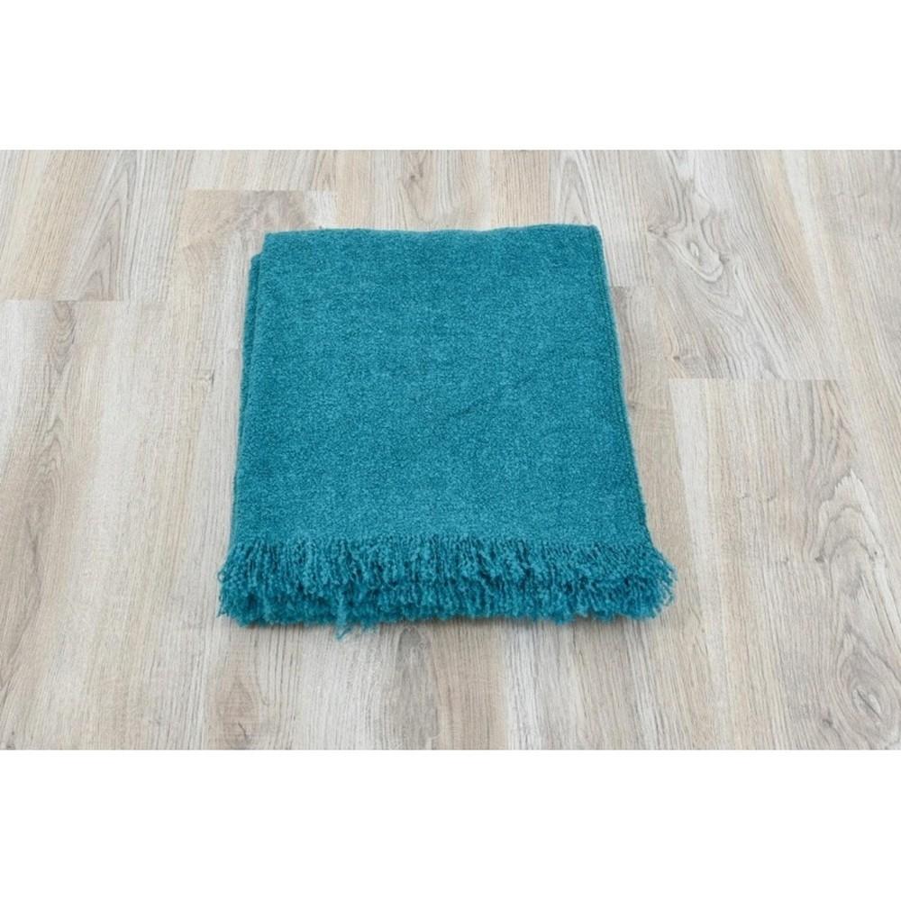 Bavlnená deka Dolce Bonita Petrol, 200×150 cm