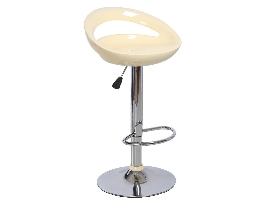 Barová stolička Dongo Nove (béžová + chróm)