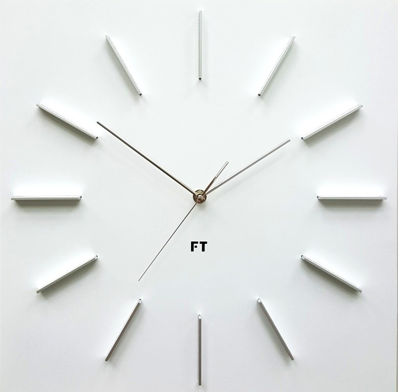 Future Time FT1010WH Square white 40cm