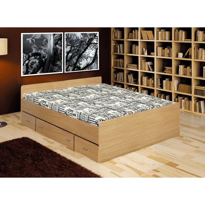 TEMPO KONDELA DUET 80262 140 manželská posteľ - buk
