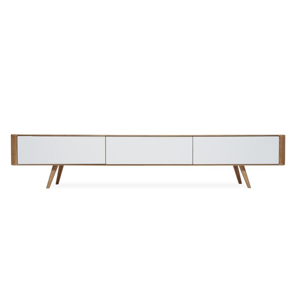 Televízny stolík z dubového dreva Gazzda Ena, 225 x 42 x 45 cm