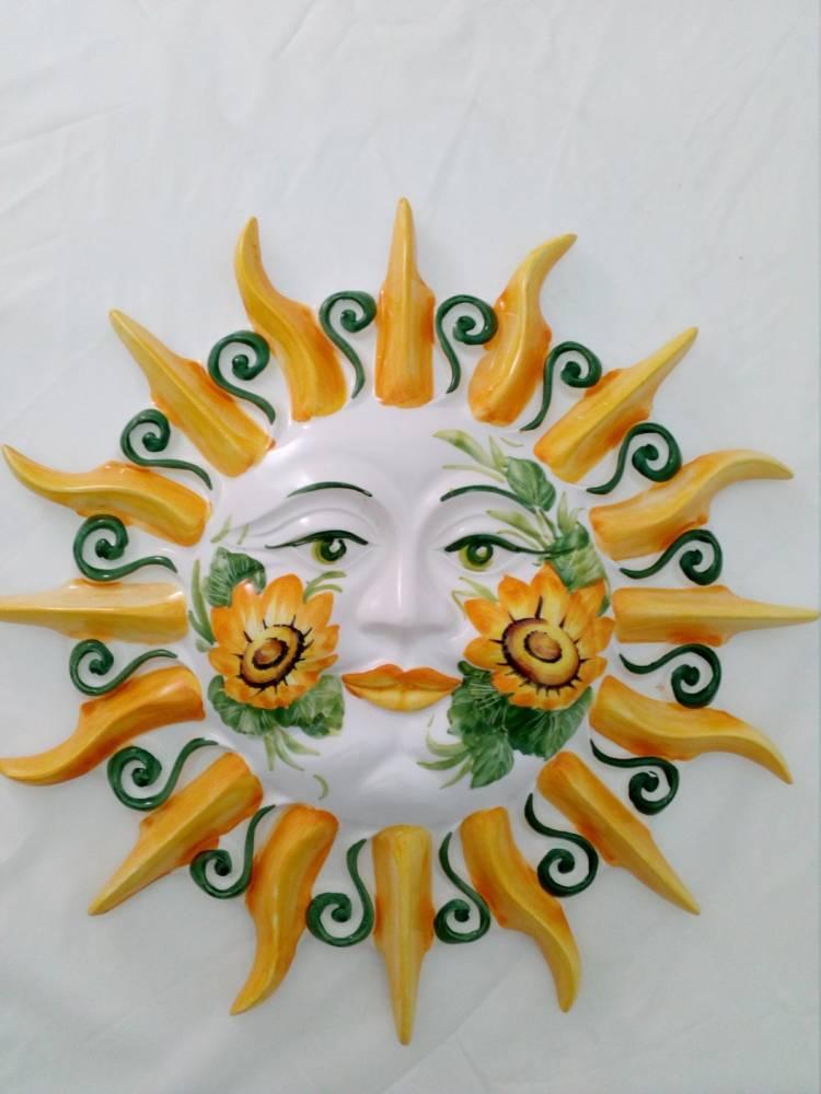 Veľké keramické slnko na stenu GIR