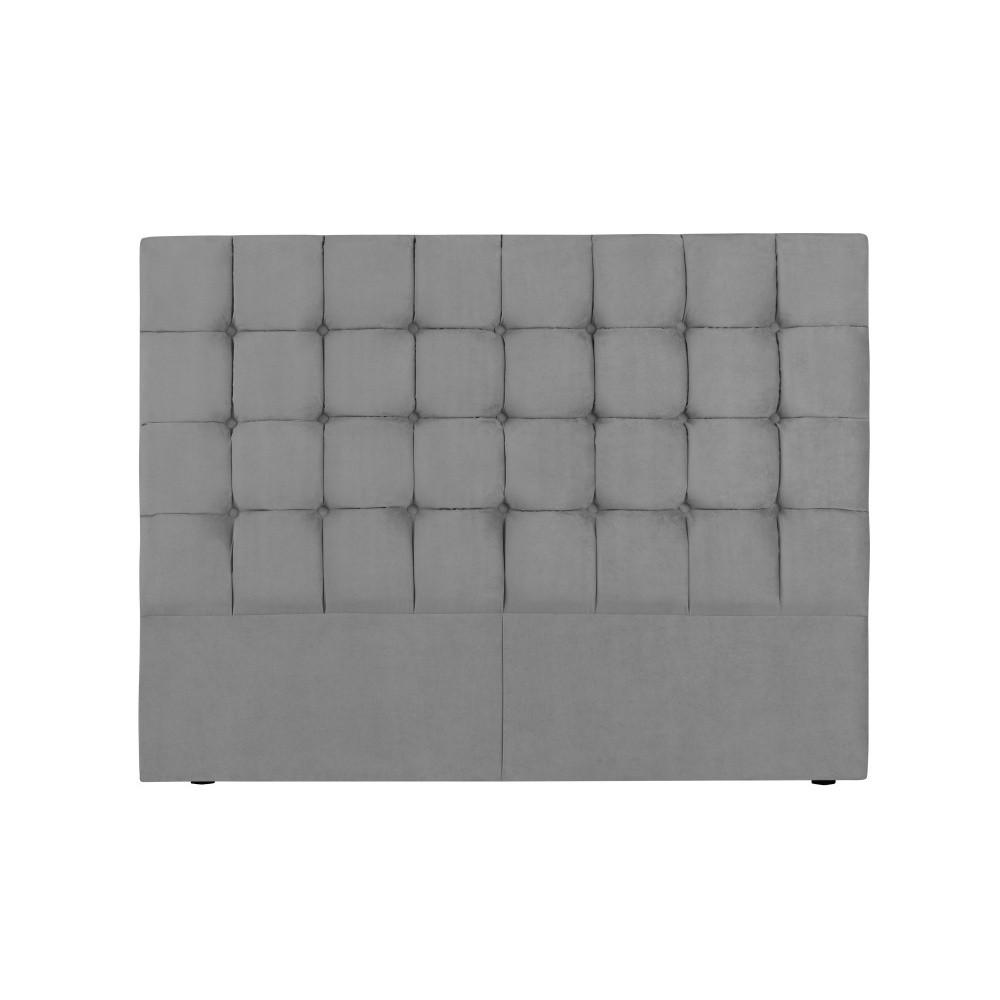 Sivé čelo postele Kooko Home Hasso, 120 × 160 cm