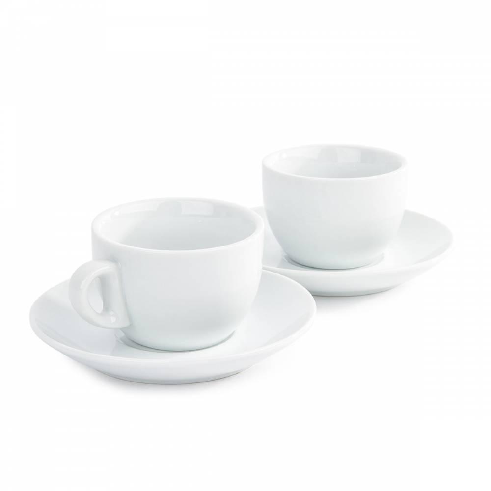Domestic sada 2 šálok a 2 podšálok na Cappuccino, 180 ml
