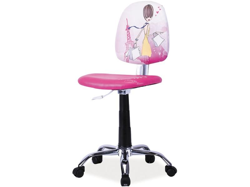 Detská stolička Grafi (ružová + vzor)