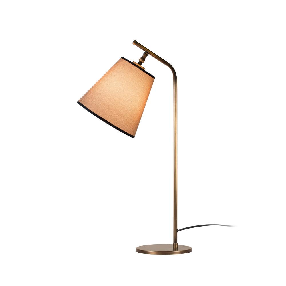 Stolová lampa v zlatej farbe s béžovým tienidlom Don