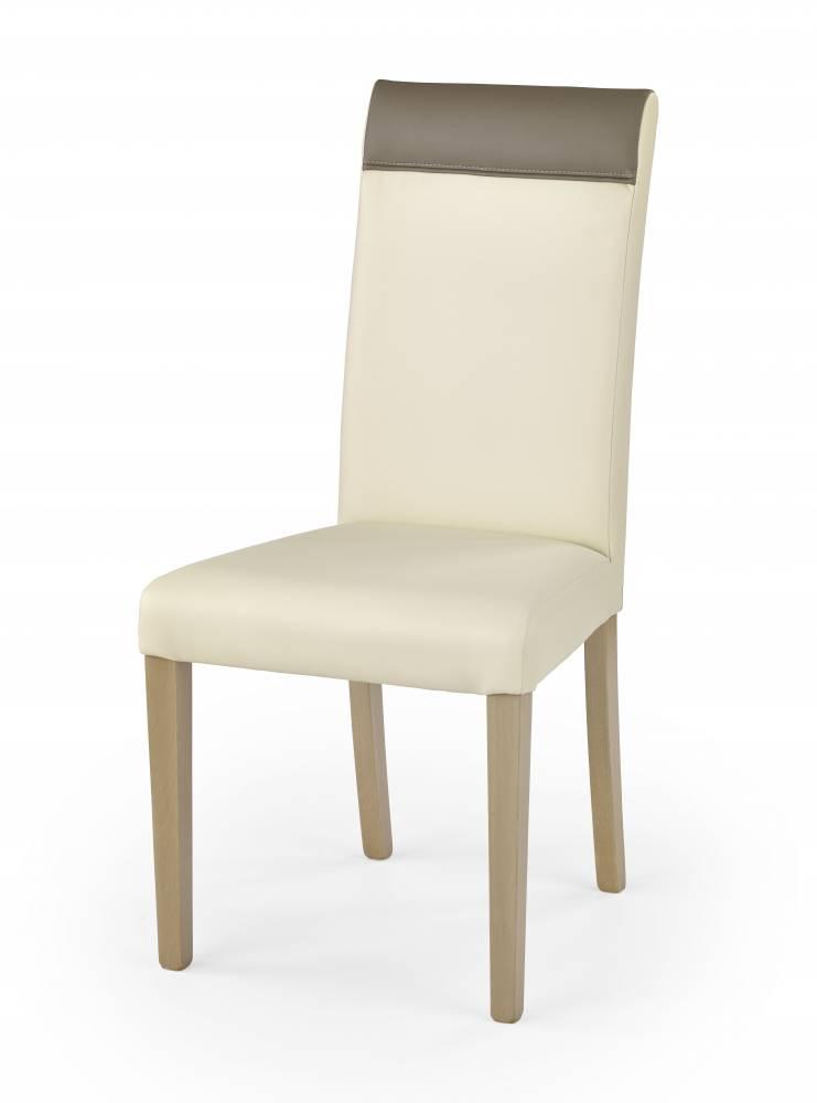 Jedálenská stolička Norbert (dub sonoma + krémová + béžová)