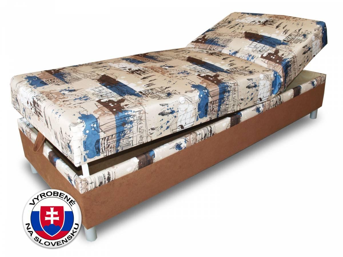 Jednolôžková posteľ (váľanda) 80 cm Benab Rafael Steel (s roštom a matracom)