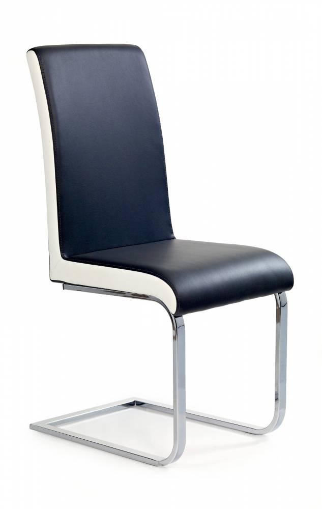 Jedálenská stolička K103 čierna + biela