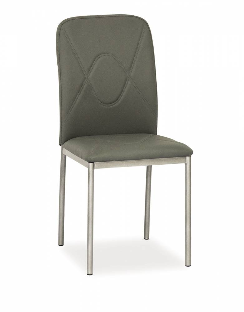 Jedálenská stolička HK-623, sivá/sivá