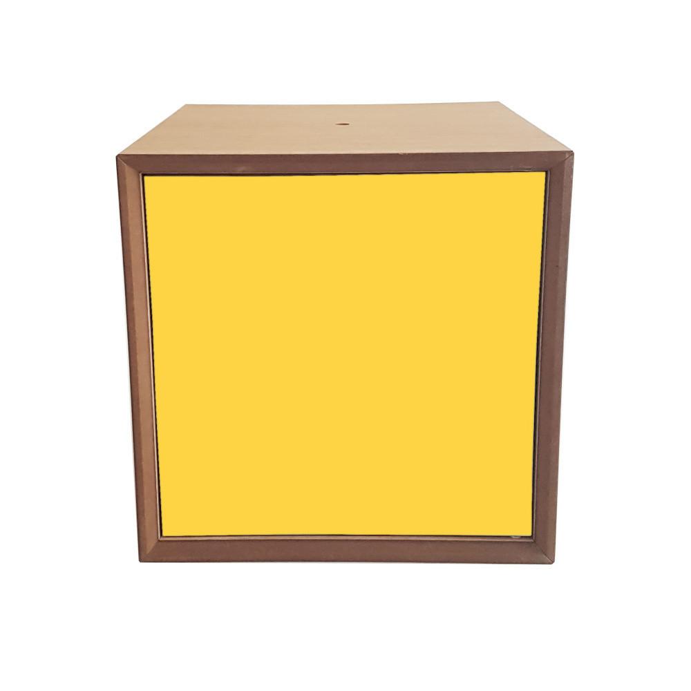 Policový diel so žltými dvierkami Ragaba PIXEL, 40 x 40 cm