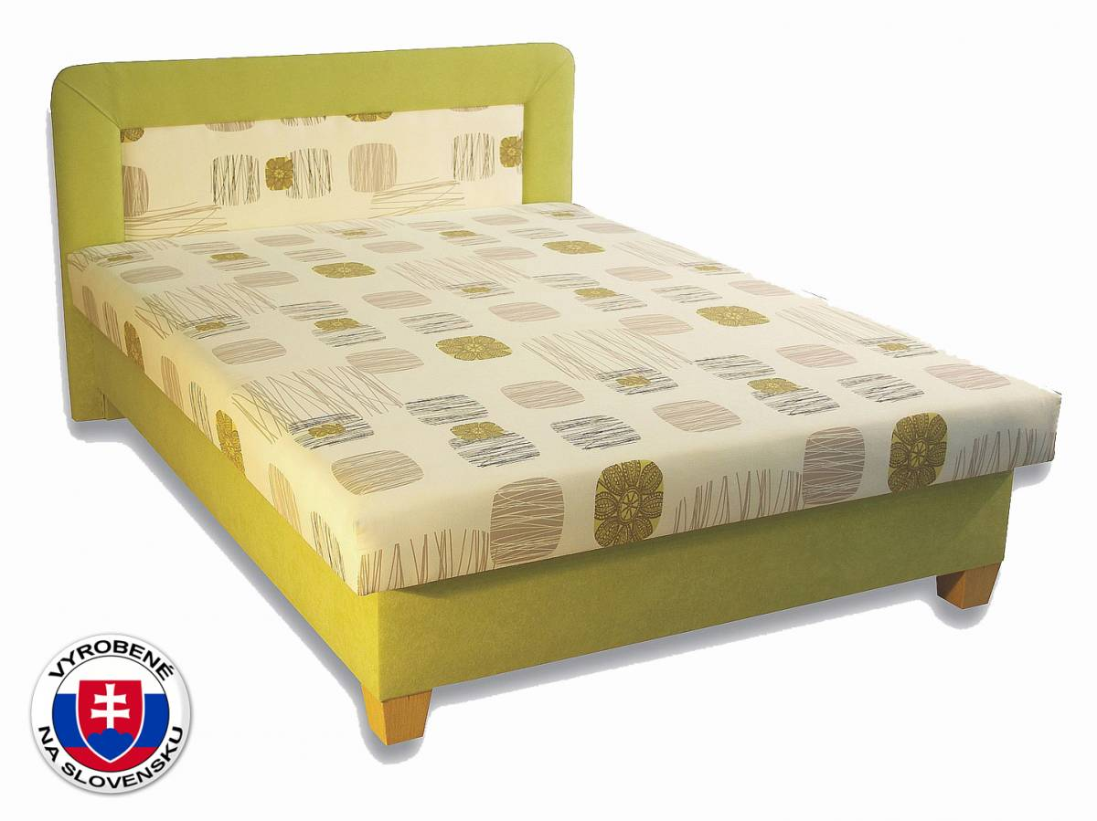 Manželská posteľ 140 cm Perla (s penovými matracmi)