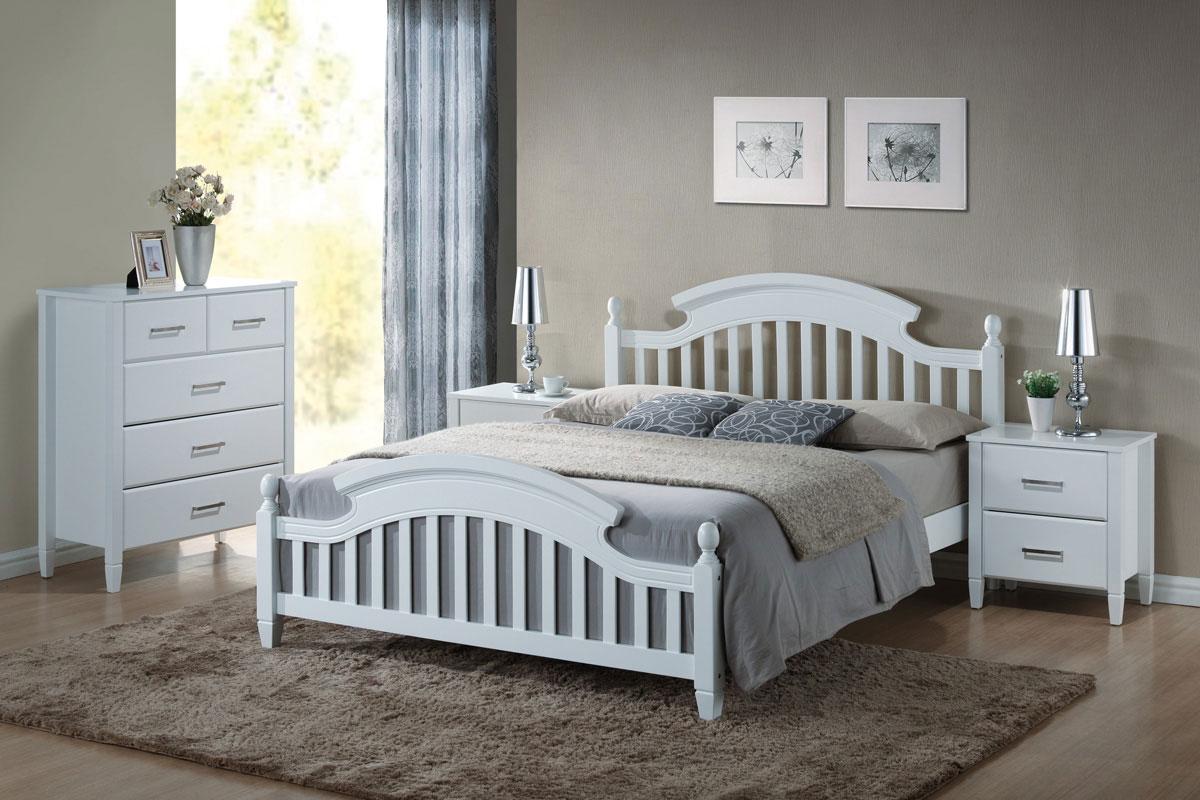 Drevená posteľ LIBONA 140, biela