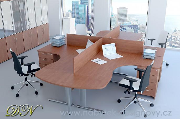 Rauman Zostava kancelárskeho nábytku Visio 3 javor R111003 12