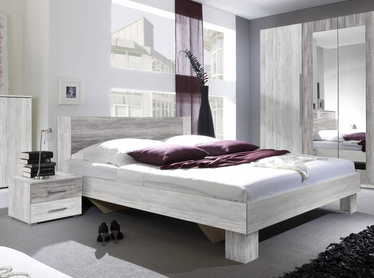 Manželská posteľ 180 cm Typ 52 (canyon svetlá + tmavá) (s noč. stolíkmi)