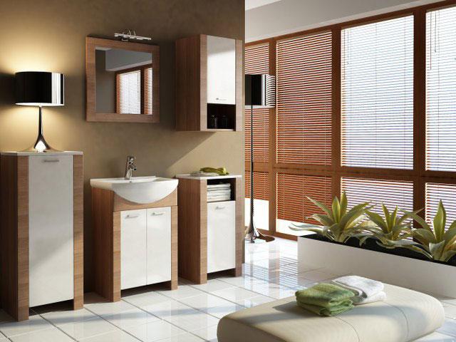 Kúpeľňová zostava ITALIA, škoricová akácia