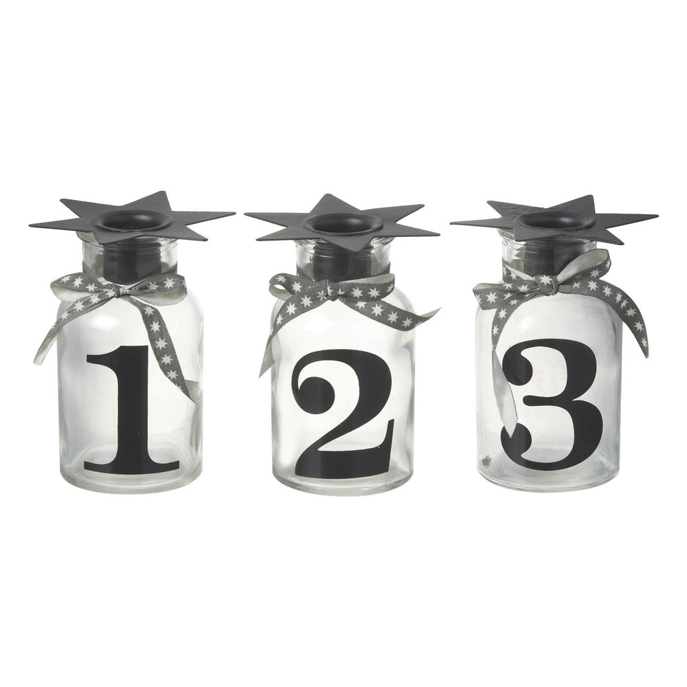 Sada 3 stojanov na sviečku Parlane Numbers