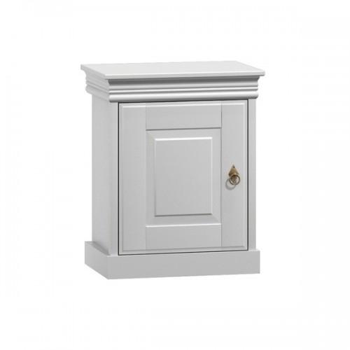 Biely nábytok Nočný stolík Toskania, biely, masív TAHOMA