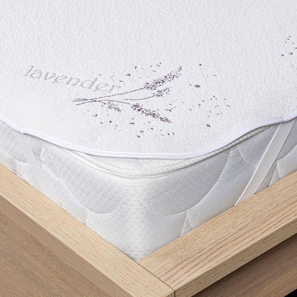 4home Lavender Vodeodolný chránič matraca s gumou, 90 x 200 cm