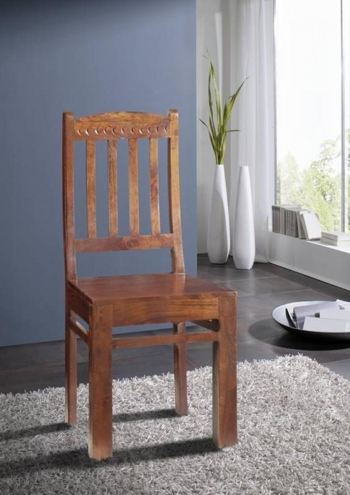 OXFORD #16 Kolonial stolička, opierka so vzorom, masívny agátový nábytok