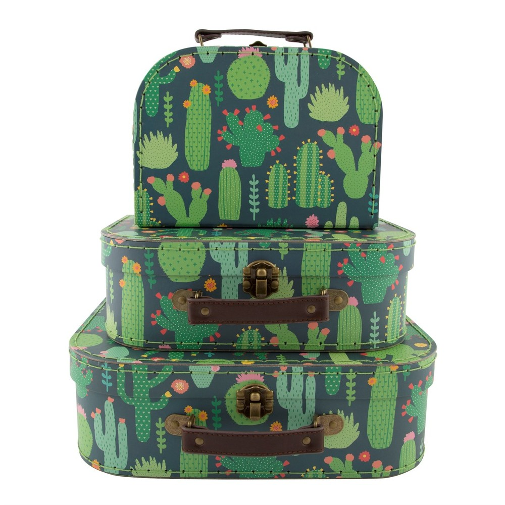 Sada 3 detských kufríkov Sass & Belle Cactus