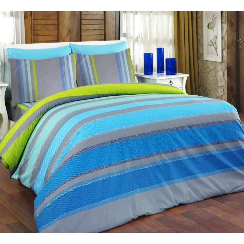Bedtex obliečky ELLE tyrkys bavlna, 140 x 220 cm, 70 x 90 cm