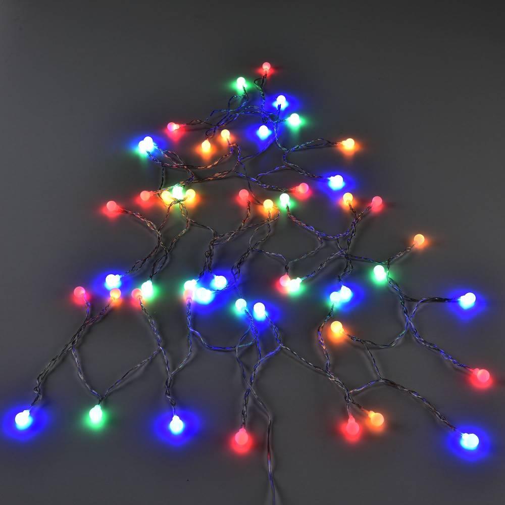 [in.tec]® Vianočná LED svetelná reťaz - farebná - 50 guličiek - 3,6W