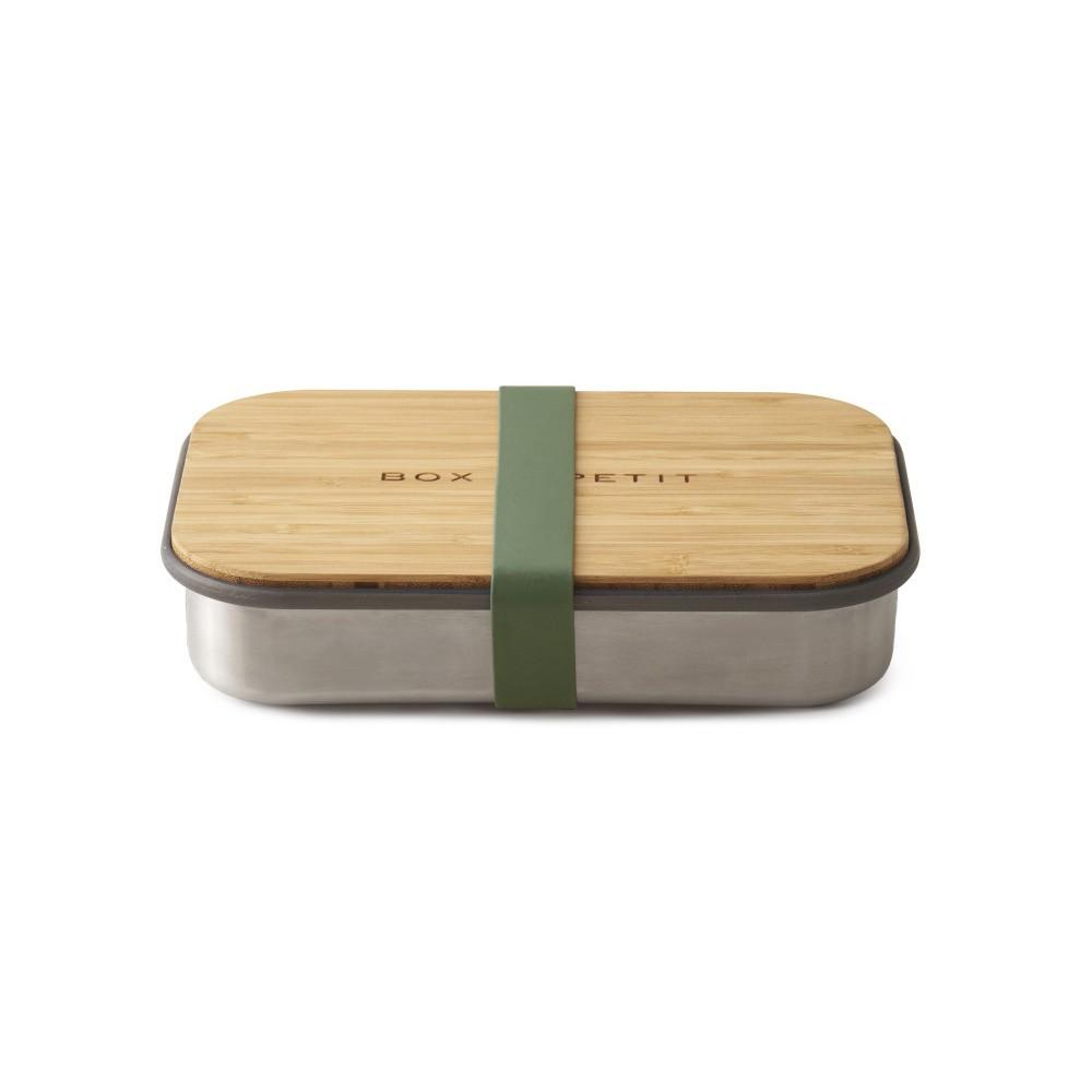 Zelený antikoro desiatový box s bambusovým vekom Black Blum Bamboo