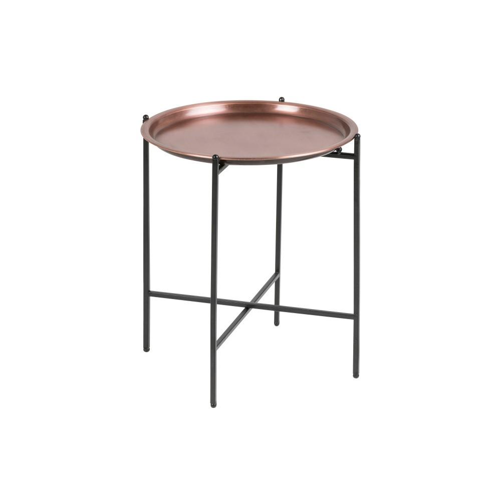 Odkladací stolík v medenej farbe Actona Osborn