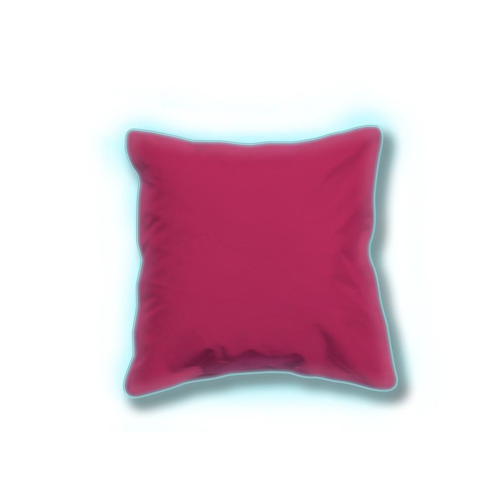 Sada 2 ružových svietiacich vonkajších vankúšikov Sunvibes, 80×80 cm