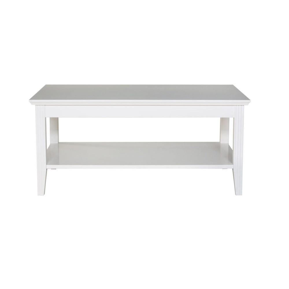 Biely konferenčný stolík Wermo Family, 100×65cm