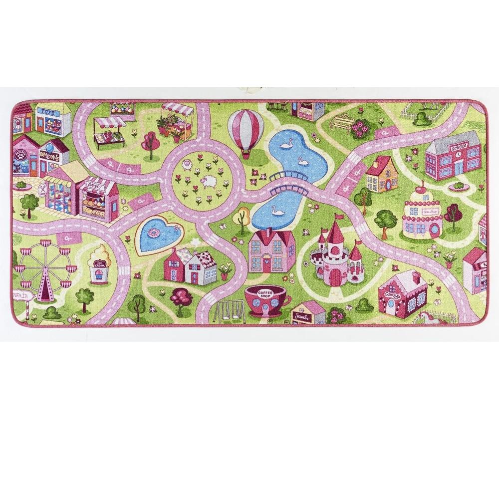Detský koberec Play pre dievčatá, 90×200cm