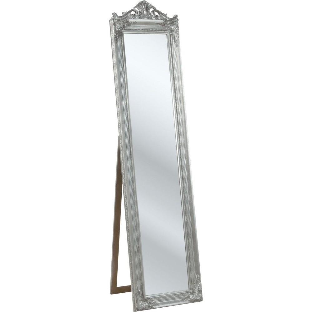 Stojacie zrkadlo v striebornej farbe Kare Design Baroque