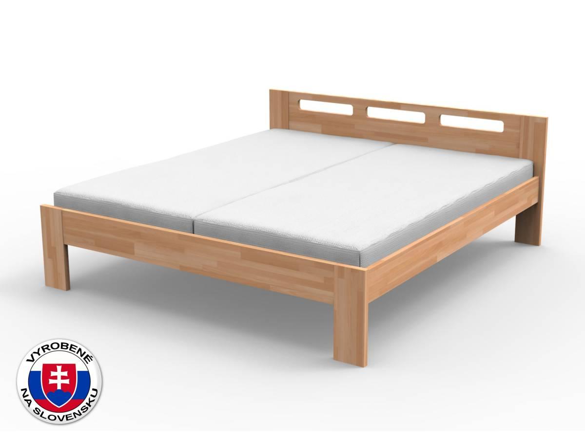 Manželská posteľ 180 cm Nela (masív buk)