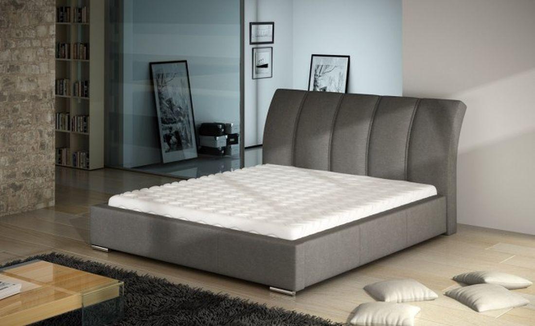 Luxusná posteľ EAST, 140x200 cm, madrid 124 + úložný priestor
