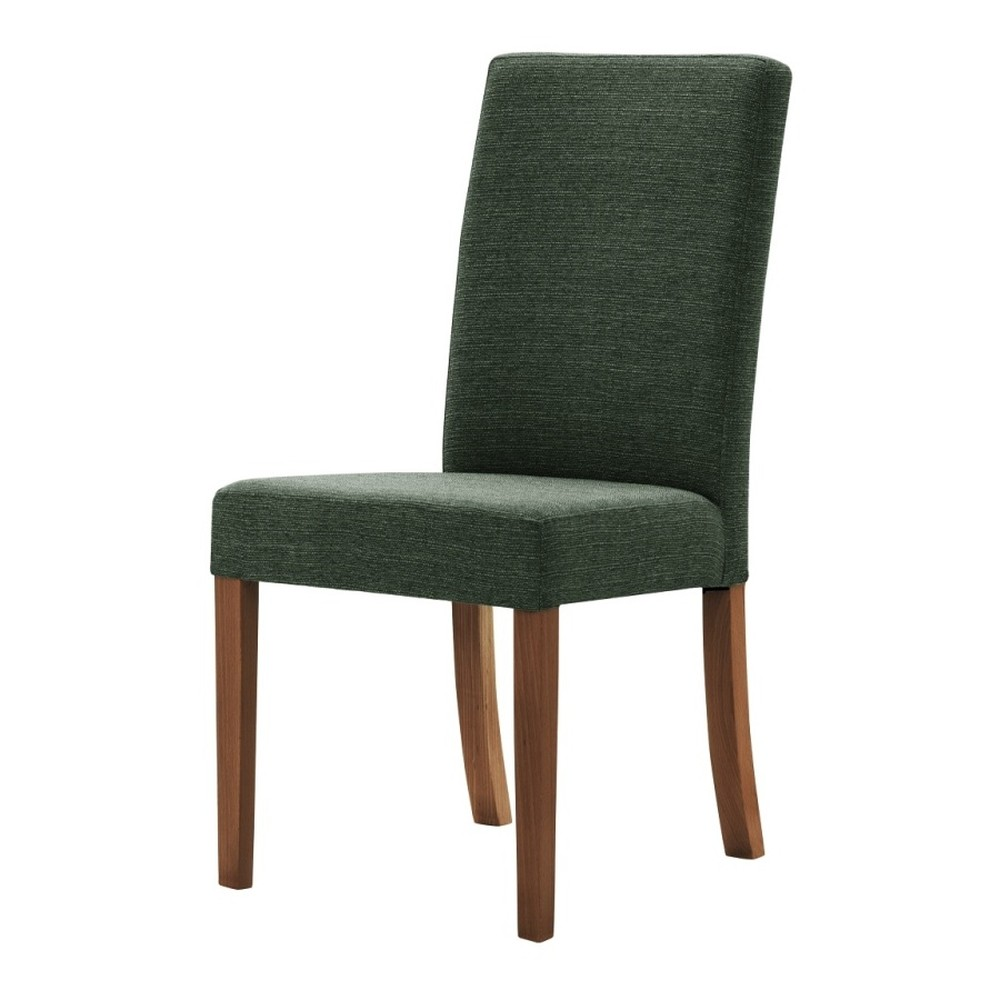 Zelená stolička s tmavohnedými nohami Ted Lapidus Maison Tonka