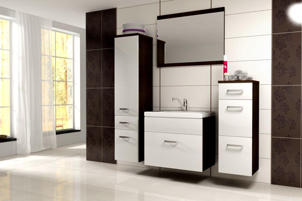 EVOE WW01 kúpeľňová zostava, wenge/biely lesk