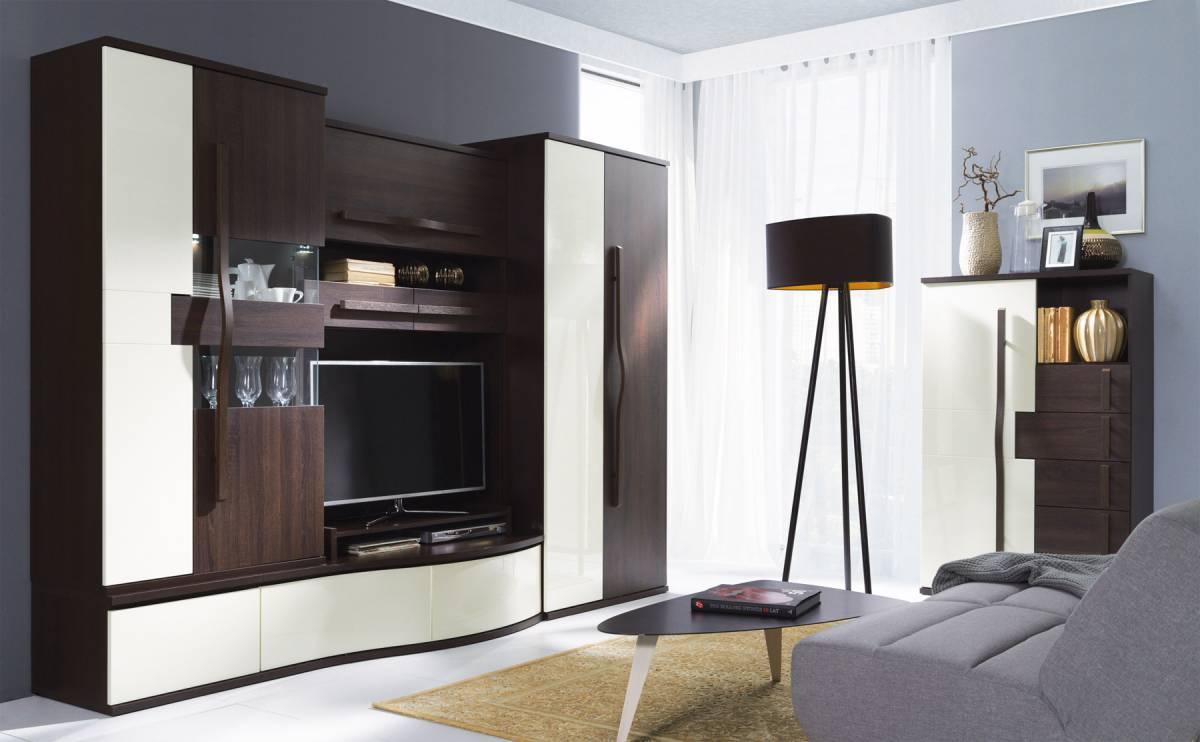 HANELL základná obývacia stena sosna/choco