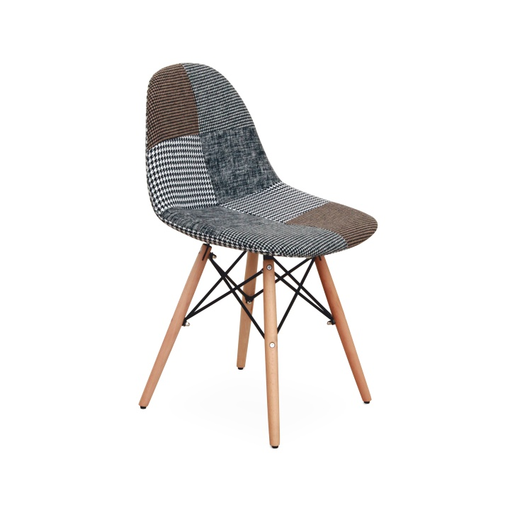 Dizajnová stolička, vzorovaná látka, PEPITO TYP 9