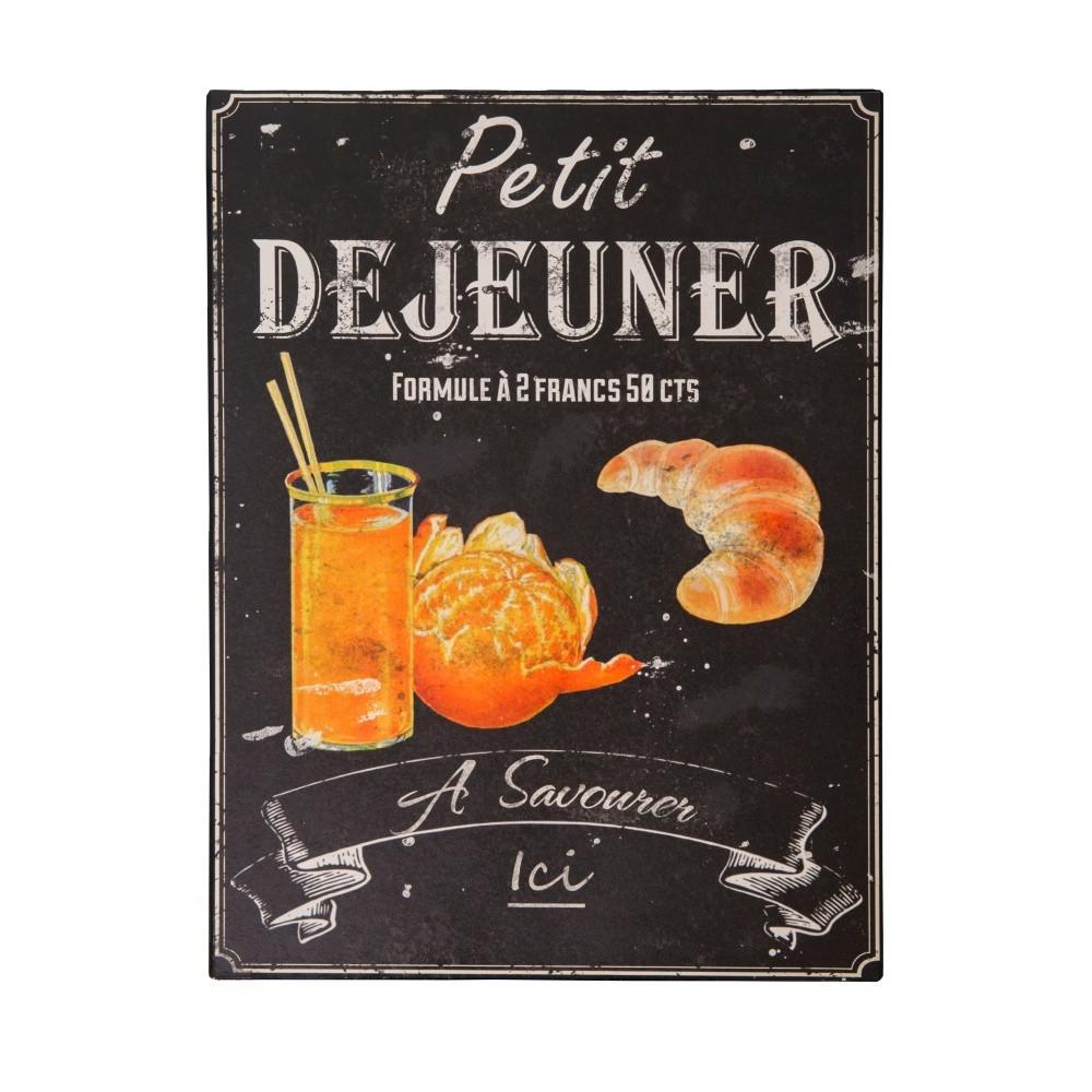 Plechová ceduľa Antic Line Petit Déjeuner