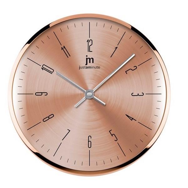 Lowell 14949R nástenné hodiny, pr. 26 cm