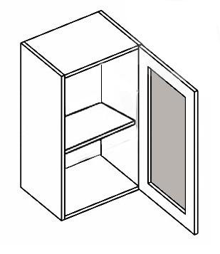W40W MR P/L horná vitrína 1-dverová - mrazené sklo, vhodná ku kuchyni PREMIUM