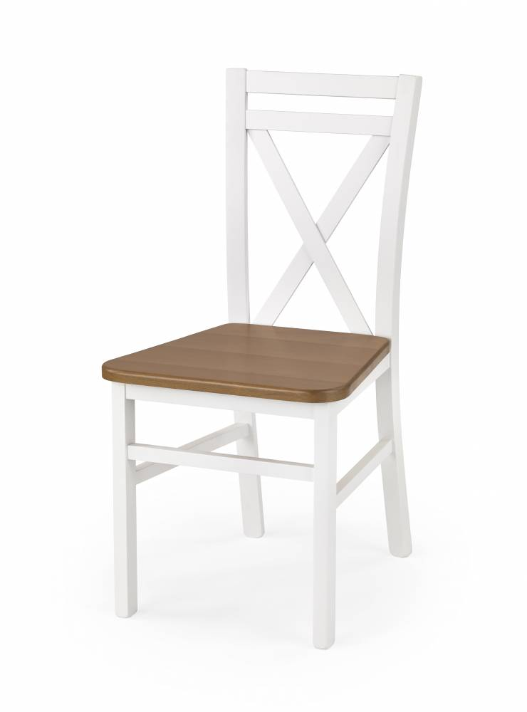 Jedálenská stolička Dariusz 2 (biela + jelša)