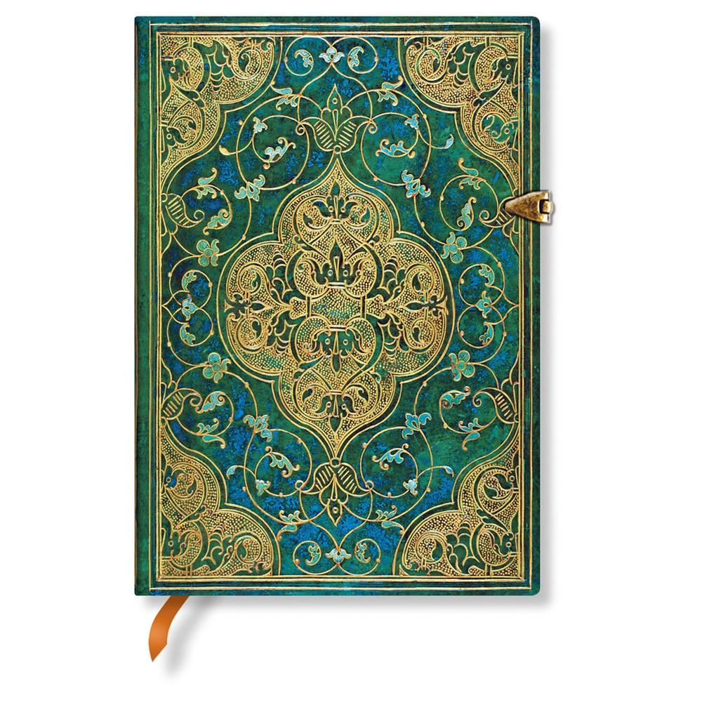 Linkovaný zápisník s tvrdou väzbou Paperblanks Turquoise Chronicles, 13 x 18 cm