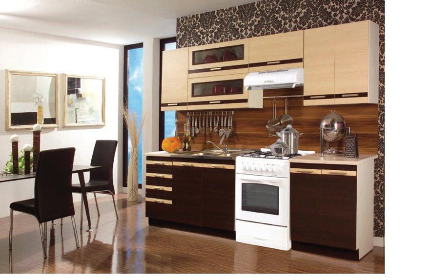 DARK LATTE kuchyňa 240 cm