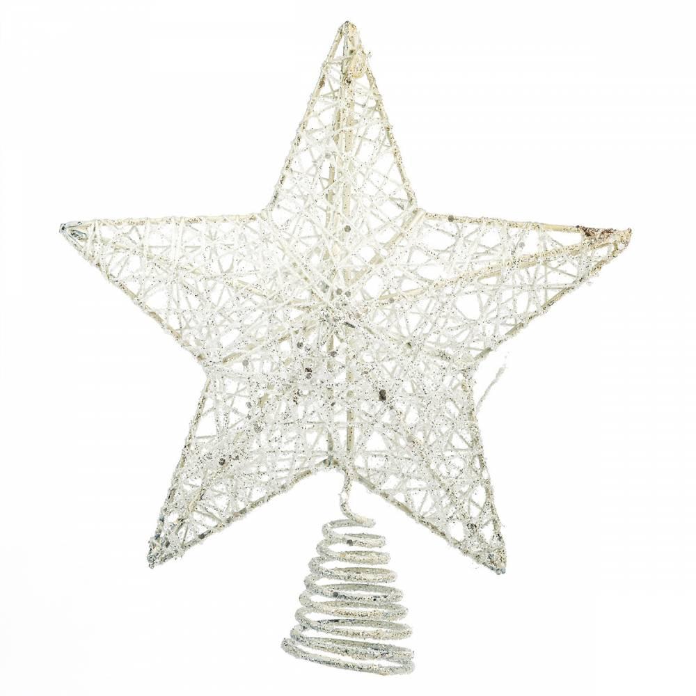 Vianočná špica Glendale biela, 20 cm