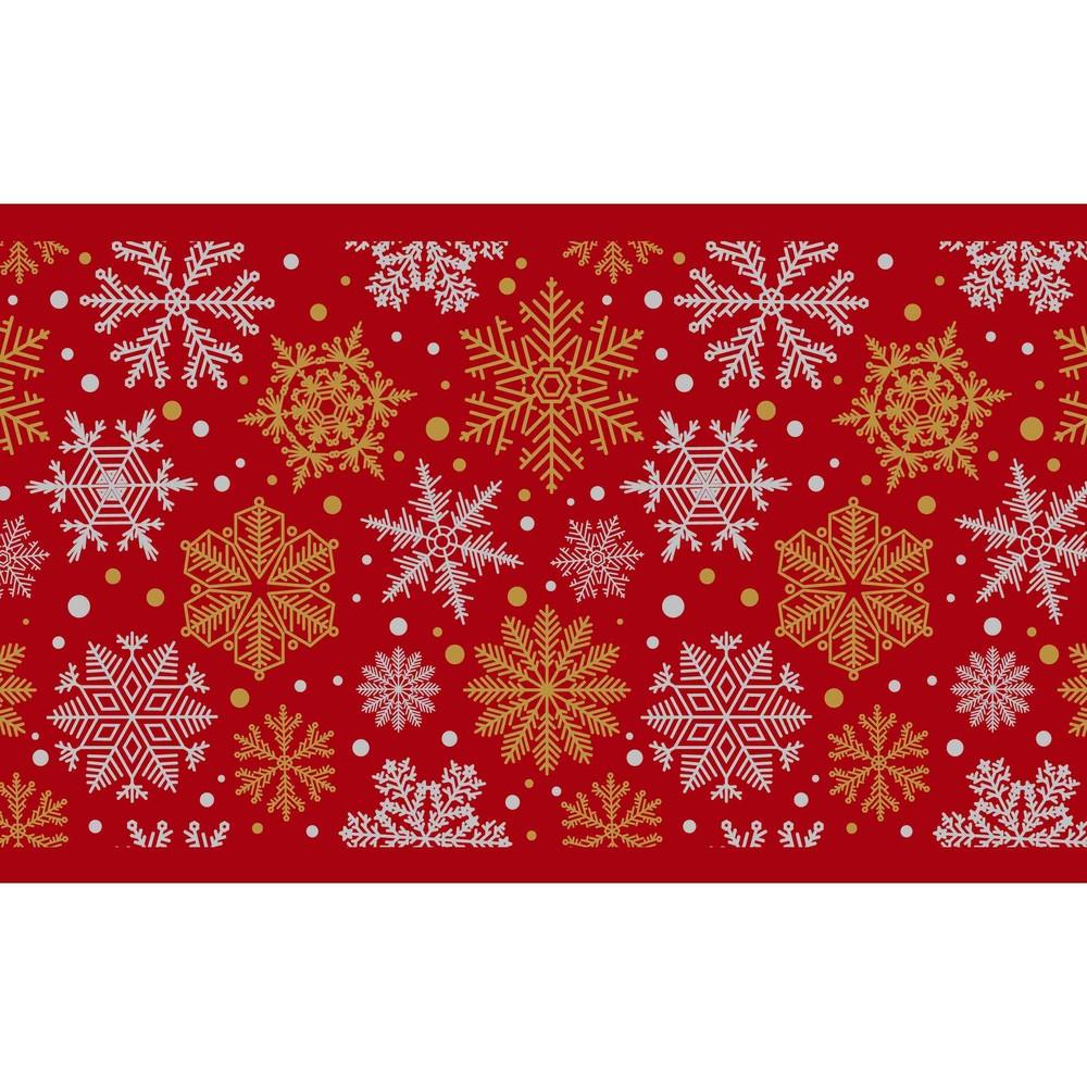 Kuchynský behúň Crido Consulting Rouge Snowflake, dĺžka 100 cm
