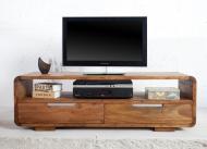 Furniture nábytok  Masívny TV stolík s 2 zásuvkami  z Palisanderu Sén  120x45x40 cm